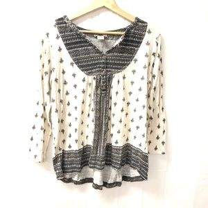 Lucky brand large boho top